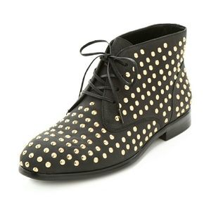 Matiko Oliver Studded Leather Ankle Booties